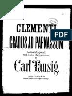 [Spartito Metodo Pianoforte] Clementi - Gradus Ad Parnassum (Tausig)