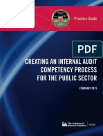 Creating IA Competency in Public Sector