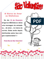 cartaz São Valentim