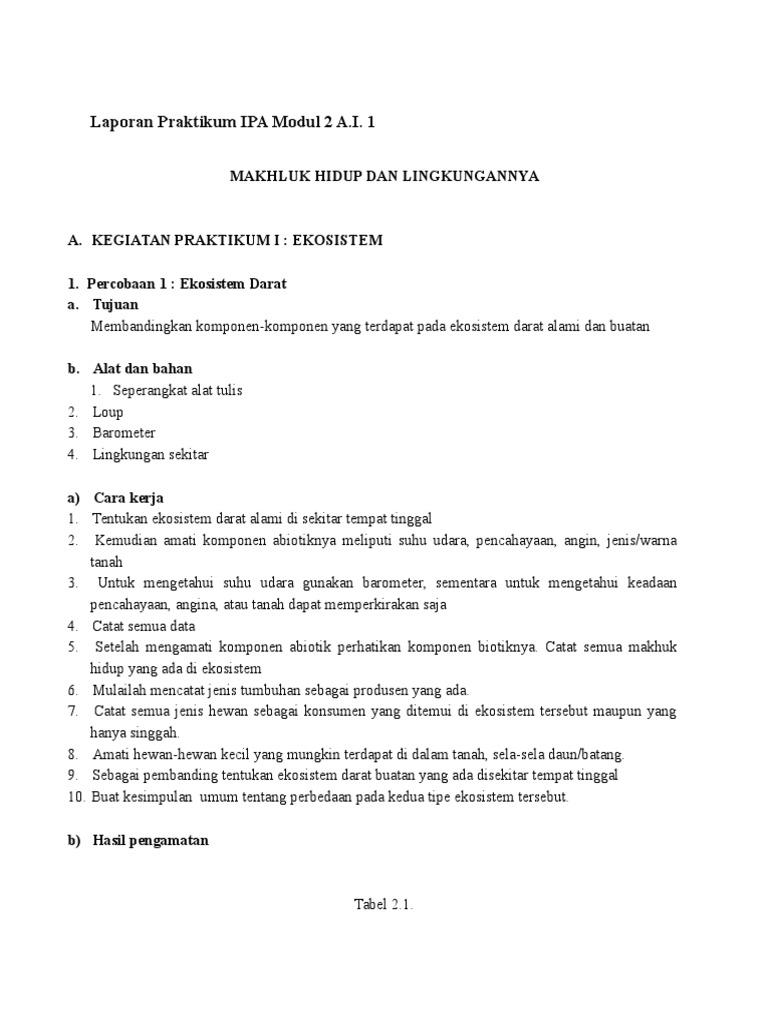 Laporan Praktikum Ipa Modul 2 A Docx