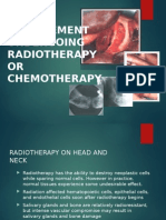 Dental Management of the patient undergoing radiotherapy or chemoterapy