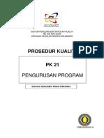 Pk21 Prosedur Kualiti Pengurusan Program