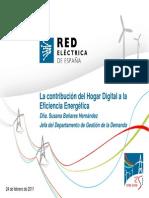 La contribución del Hogar Digital a la Eficiencia Energética