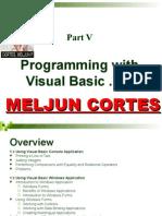 MELJUN CORTES Module VI - Programming With Visual Basic .NET