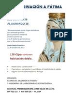 Peregrinación a Fátima