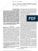 IMP - M - Design and Analysis of Post-Coded OFDM Systems