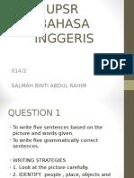 UPSR bahasa inggeris tahun 6