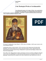 Through the Pages of the Theological Works of Archimandrite Justin Popovic