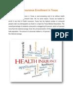 Health Insurance Enrollment in Texas