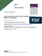 Müller (2003) - Bitten Und Beten Im NT Und Seiner Umwelt