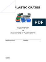 Project Report on Plastic Crates