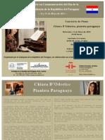 Concierto de Piano - En Conmemoracion Del Dia de La Independencia de La Rep. Del Paraguay - 13.05.2015 - 19.00 Hs.