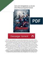 [Mejortorrent.com] Vengadores La Era de Ultrón.2015.Pelicula.español.torrent
