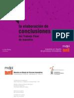 La elaboración de conclusiones de trabajos finales - MDPI