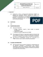 Procedimiento General de Control Metrológico de Equipos de Medicion