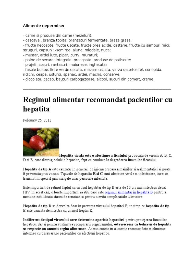 Alimentatia si stilul de viata in hepatita cronica cu virus hepatitic B | apois.ro
