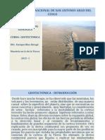 GEOTECTÓNICA - CURSO 2015