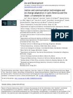 [Eakin, Wightman, Hsu, Gil, Fuentes, Hyman, Pacas, Borraz, Gonzáles, Ponce & Kammen 2014] ICTs & Climate Change Adaptation in LACC (Climate & Development)