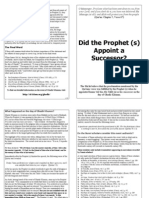 The Prophet (s) appoints Imam Ali (a) as his successor