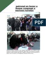Fiesta Patronal en Honor a San Roque Congregó a Numerosos Turistas