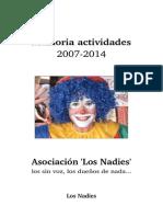 Memoria 2007-2014 - Los Nadies A5