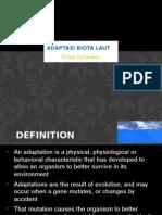 Adaptasi Biota Laut