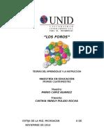 INVESTIGACIÓN DOCUMENTAL DE LOS FOROS.docx