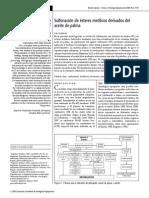 Sulfonacion de Metil Esteres de Aceite de Palma