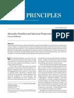 Alexander Hamilton and American Progressivism from the Heritage Foundation/Carson Holloway