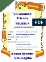 Monografia de Las Fuentes Del Derecho Para Telesup