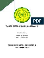 Tugas Mata Kuliah Al Islam II