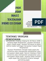 Pajak Yayasan Pendidikan