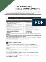 Les Pronoms Personnels Compléments Exercices