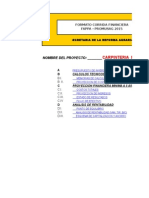 Corrida Financiera Para Proyecto Carpinteria Sagarpa