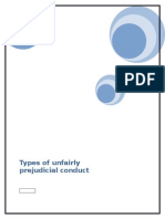 Types of Unfairly Prejudicial Conduct