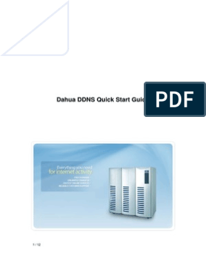 Dahua DDNS Quick Start Guide pdf | Domain Name | Port (Computer