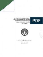 Informe Ley de Bosques 2012