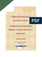 Terapeutica en la desintoxicación y deshabituación de opiáceos