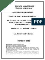 Articulos Contencioso Administrativo