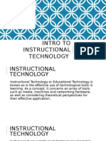 intro to instructional technology presentation