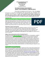 Filing Procedure - Corporation