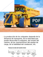 produccion para VOLQUETA