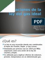 Aplicaciones de Ley Del Gas Ideal