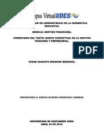 Comentario Del Texto Gestion Finaniera y Empresarial