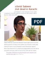 Pakistan activist Sabeen Mahmud shot dead in Karachi.odt