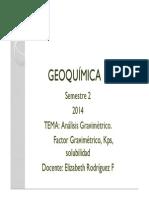 TEMA Análisis Gravimétrico- Factor Gravimétrico Kps [Modo de Compatibilidad]