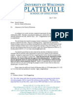 admission to soe letter