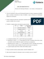 Lista de Exercícios Processo de fabricação
