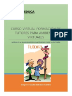 Propuesta de Intervención del tutor virtual