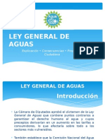 Ley General de Aguas